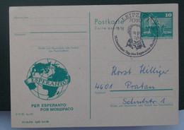 Privata Eldono De Postkarto Kun Esperanto Stampo 1982 - Cartas