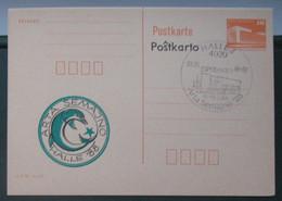 Privata Eldono De Postkarto Kun Esperanto Stampo 1988 Arta Semajno - Cartas