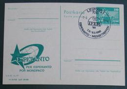 Privata Eldono De Postkarto Kun Esperanto Stampo 1980 IFER - Cartas