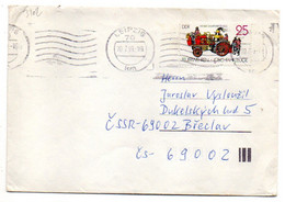 Allemagne-- 1989- Lettre LEIPZIG  Pour La Tchécoslovaquie--tp (pompiers) N° 2723 Seul Sur Lettre...cachet - Cartas