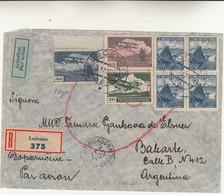 Lucenec To Argentina. Cover Raccomandata 1937 - Vari Timbri - - Briefe U. Dokumente