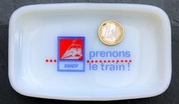 Ancien Cendrier SNCF Locomotive électrique - Prenons Le Train ! - Railway