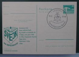 Privata Eldono De Postkarto. Svejk En Esperanto Kun Speciala Stampo 1983 - Cartas