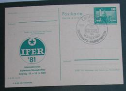 Privata Eldono De Postkarto Kun Esperanto Stampo 1981 IFER - Cartas