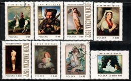 Poland 1972 Mi# 2187-2194 Used - Polish Paintings - Gebruikt