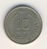 SINGAPORE 1977: 10 Cents, KM 3 - Singapore