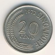SINGAPORE 1972: 20 Cents, KM 4 - Singapore