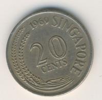 SINGAPORE 1969: 20 Cents, KM 4 - Singapore