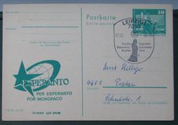 Privata Eldono De Postkarto Kun Esperanto Stampo 1984 Tago De Esperanto Libro. - Cartas