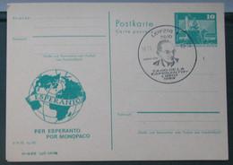Privata Eldono De Postkarto Kun Esperanto Stampo 1989 Tago De Esperanto Libro - Cartas