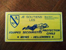 AUTOCOLLANT STICKER JE SOUTIENS LES ÉQUIPES SECOURISTES PROTECTION CIVILE – MONS – HELLEMMES – NORD - Stickers