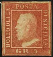 """SICILIA<br/> - Tipologia: * - Gr.5 II Tav. C.Palermo Vermiglio N.19 - Sassone N.11 - P.V.<br /> Qualità: """"A"""" - 62 - Sicilia"""