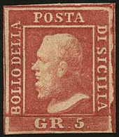 "SICILIA<br/> - Tipologia: *SG - Gr.5 I Tav. C.Napoli Carminio N.17 - Sassone N.9a - P.V.<br /> Qualità: ""A"" - 620 - Sicilia"