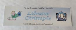 Signet D'une LIBRAIRIE, Versailles 1995. - Bookmarks