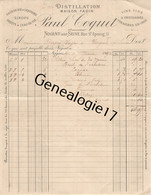 10 0599 NOGENT SUR SEINE AUBE 1892 Distillation Eaux De Vie PAUL COQUET Maison FADIN Vinaigres Fruits Dest DUPRE - 1800 – 1899