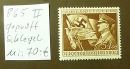 Deutsches Reich Michel Nr: 865  II   Geprüft Schlegel  Postfrisch ** MNH   #5435 - Engraving Errors