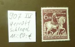 Deutsches Reich Michel Nr: 907   IV   Geprüft Schlegel  Postfrisch ** MNH   #5435 - Engraving Errors