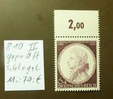 Deutsches Reich Michel Nr: 810  II   Geprüft Schlegel  Postfrisch ** MNH   #5435 - Engraving Errors