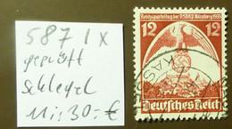 Deutsches Reich Michel Nr: 587  Ix   Geprüft Schlegel  Used Gestempelt   #5435 - Engraving Errors