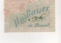 CPA  UN BAISER DE ROMONT CARTE GAUFFREE RARE - Andere Gemeenten