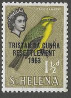 Tristan Da Cunha. 1963 Tristan Resettlement. 1½d MH. SG 56 - Tristan Da Cunha