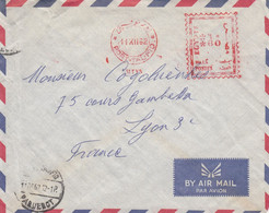 LETTRE. EMA EGYPTE. PORT-TAUFIO 60. POUR LYON. PAR PORT-TAUFIO PAQUEBOT - Covers & Documents