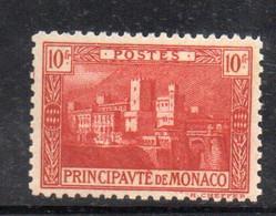 XP2804 - MONACO 1922 ,  10 Fr N. 64 * Linguellato - Unused Stamps