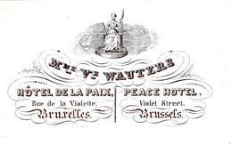 DE 435 - Carte Porcelaine D'Hotel De La Paix, Bruxelles - Sin Clasificación
