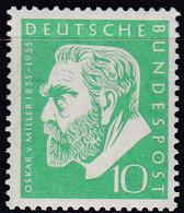 BRD 1955,  209, MNH **,  Oskar Von Miller. - Unused Stamps