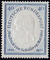 BRD 1955,  210 MNH **,  Friedrich Von Schiller. - Unused Stamps