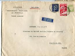Portogallo (1939) - Busta Posta Aerea Per La Francia - Covers & Documents