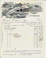 SURICE -  A. BURNIAUX Fils  Manufacture De Tabacs & Cigares, Tannerie 1894 - Food
