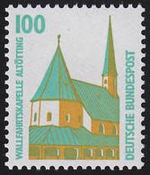 1406A V Weiße Gummierung Sehenswürdigk. 100 Pf Wallfahrtskapelle Altötting, ** - Sin Clasificación