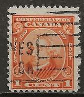CANADA: Obl., N° YT 121, TB - Oblitérés