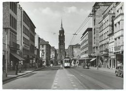 Krefeld Tram Tramway Strassenbahn Trolley Rheinstrasse Kirche 1965 - Krefeld