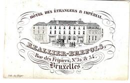 DE 437a Carte Porcelaine D' Hotel Des Etrangers & Imperial, Bruxelles, Imp. Heger - Sin Clasificación