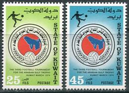 Kuwait 1974. Mi.#622/23 MNH/Luxe. Sport. Football. Gulf States Football Cup . (Ts22) - Kuwait