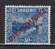 Saargebiet Saar Sarre - Dienstmarke/service **  Paysage Sarrois :    50 Cts - Unused Stamps