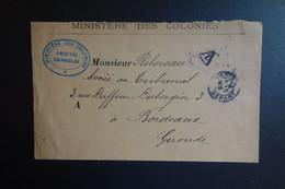 Lettre Taxé Duministére Des Colonies 1905 - 1877-1920: Semi Modern Period