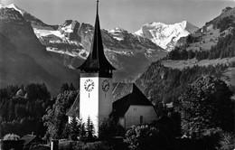 Kirche Frutigen Mit Balmhorn-Altels @  Frutigen - BE Bern
