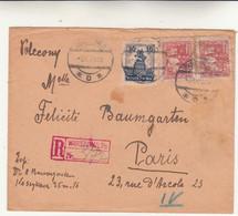 Varsavia To Paris, Cover Raccomandata 1926 - Briefe U. Dokumente