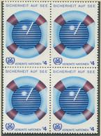 VEREINTE NATIONEN WIEN / MiNr. 30 / 4er Block / Sicherheit Auf See / Postfrisch / ** / MNH - Nuevos