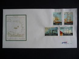 (4)  NEDERLANDSE ANTILLEN 2001 FDC TRANSPORT ZEILSCHIP SCHEPEN SAILING SHIP SEGELSCHIFFE BATEAUX LES VOILIERS - Antillas Holandesas