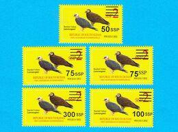SOUTH SUDAN 2017 Surcharged Overprints On 2012 2 SSP Birds Vulture Stamp SOUDAN Du Sud Südsudan - South Sudan