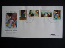 (4)  NEDERLANDSE ANTILLEN 2000 FDC 320 LANDKAART LEARN STAMPS FOR THE CHILDREN CLEAN ENERGY EDUCATION COMPUTER BOAT MAP - Antillas Holandesas