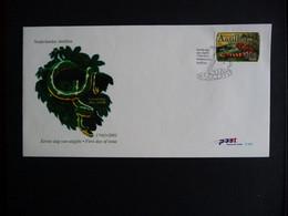 (4)   NEDERLANDSE ANTILLEN 2001 FDC E322 FAUNA REPTIELEN SLANG REPTILES CHINESE LUNAR NEW YEAR OF THE SNAKE SCHLANGEN - Antillas Holandesas