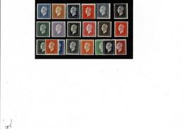 Philatélie France Timbre Série N° 682* à 701* De 1945 Très Très Légère Trace De Charnière - 1944-45 Marianne Van Dulac