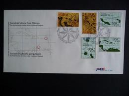 (4)  NEDERLANDSE ANTILLEN 2003 FDC E344 LANDKAARTEN ZEEKAARTEN MAPS LANDKARTEN - Antillas Holandesas
