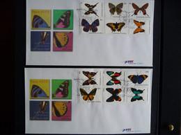 (4)  NEDERLANDSE ANTILLEN 2003 FDC'S 345A+Bfb E345A+B FAUNA VLINDERS BUTTERFLIES SCHMETTERLINGE MARIPOSAS PAPILLONS - Antillas Holandesas