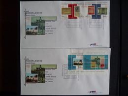 (4) E NEDERLANDSE ANTILLEN 2003 FDC E347 E347A DRUKKERIJ JOH. ENSCHEDE SECURITY PRINTERS 300 YEARS - Antillas Holandesas